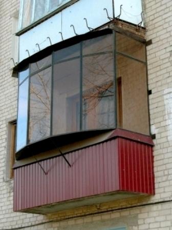 Балкон под ключ в москве и московской об - наружная отделка.
